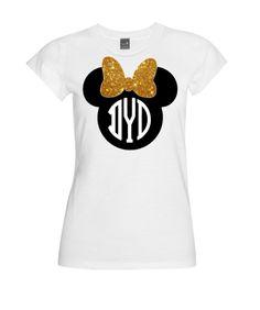 Minnie Mouse Monogram Disney Tee