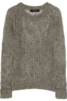 """i wish i was clicking """"add to shopping bag"""", not """"pin it"""" - isabel marant linen open weave sweater."""