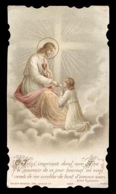 Vintage Holy Cards, Prayer Cards, Celestial, Virgin Mary, Holi, Jesus Christ, Prayers, Faith, Pure Products