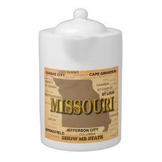 Antique Missouri State Pride Map Silhouette
