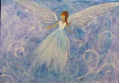 """""""Healing Angel"""" art card intuitively painted    www.BrydenArt.com"""