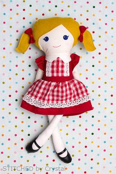 STITCHED by Crystal: Red Riding Hood Doll