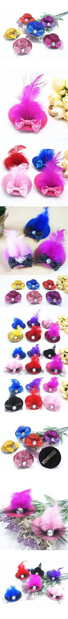 Zeroyoyo Pet Cat Dog Hats Pet Hairpin Bow Tie Ornaments Hat Christmas Party Wedding Decoration Random Colour