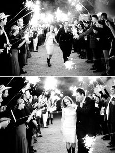 black in white picture with sparklers