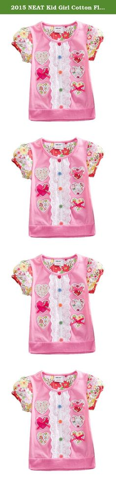 2015 NEAT Kid Girl Cotton Flower Heart Short Sleeve T Shirt Tee Pink 5-6 Years. NEAT kids clothing is dirctly sell from factory. We focus to children health, using natural fabrics, the perfect combination of fashion and comfortable. Brand Name: NEAT Style: Fashion Material: Cotton Notice: If you want kids wear longger time, you can order 1 size bigger Size: 18-24 months=86-92cm 2-3 years=92cm-98cm 3-4 years=98cm-104cm 4-5 years=104cm-110cm 5-6 years=110cm-116cm.