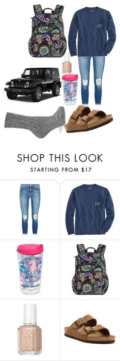 """""""Can't wait to finally drive"""" by duhitsallison ❤ liked on Polyvore featuring J Brand, Vineyard Vines, Tervis, Vera Bradley, Essie, Wrangler, Birkenstock and Johnstons of Elgin"""