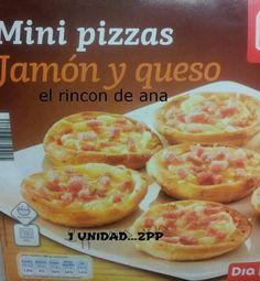 Mini pizzas dia