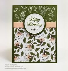 Beginner Brochure Stampin' Up! Magnolia Lane Cards Bundle by Dawn Olchefske #dostamping #stampinup #handmade #cardmaking #stamping #papercrafting #birthdaycards Handmade Greeting Card Designs, Stampin Up Karten, Altenew Cards, Magnolia Stamps, Stamping Up Cards, Paper Cards, Flower Cards, Cute Cards, Thing 1