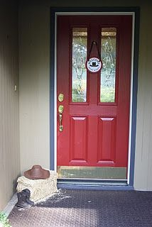 Western Baby Shower Door Decor