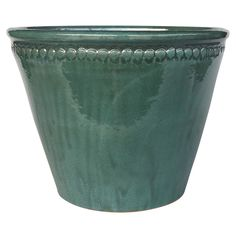 Green Symphony Button Design Planter - 7in