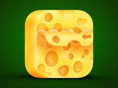 Anybody wants cheese on your toast, guys?:) Another food icon for small cheese rate app.