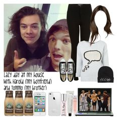 """Lazy day at my house with Harold (my boyfriend) and Tommo (my brother)"" by jaynnelinsstyles ❤ liked on Polyvore"