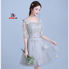 DK209 - Đầm dự tiệc chất liệu ren xòe đáng yêu. – Thời Trang Nữ BYshop