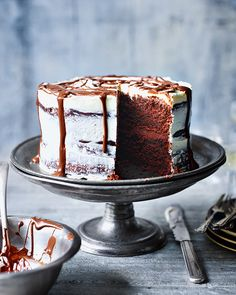 Soured cream is used in this decadent chocolate cake to create a light, airy texture that'll only leave you wanting more...
