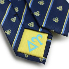 Delta Upsilon Fraternity Ties with Official Branding.