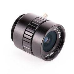 Die 6mm 3 Megapixel Weitwinkelobjektive passend für die Raspberry Pi High Quality Kamera für Fotografie und Video aufnahmen. Der Feldwinkel (DxHxV°) liegt bei 63° und die Objektive hat eine Auflösung von 3 Megapixel sowie eine minimale Objektdistanz (M.O.D. - minimal object distance) von 0.2 Meter. Raspberry Pi Foundation, Raspberry Pi Camera, Latest Camera, Wide Angle Lens, Media Center, Focal Length, Camera Accessories, Aperture