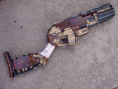 Nerf Steampunk Sledgefire Custom Painted by Segerev.deviantart.com on @DeviantArt
