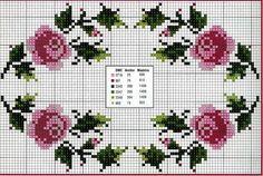 Punto croce - Schemi Gratis e Tutorial: schemi bordi con fiori a punto croce