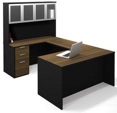 Pro-Concept U-Shape Desk Office Suite with Hutch