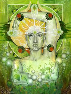 """Book of Shadows: """"Materia Earth,"""" by Patricia Ariel. Gaia, Mother Earth, Mother Nature, Tarot, Le Reiki, Dame Nature, Psy Art, Mystique, Visionary Art"""