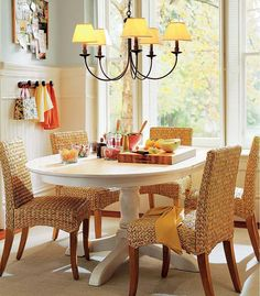 Benefits of Applying Wicker Dining Chairs: Wicker Dining Chairs Area ~ Dining Room Inspiration Wicker Dining Chairs, Outdoor Wicker Furniture, Dining Nook, Diy Furniture Table, Sectional Furniture, Furniture Ideas, Dining Room Inspiration, Style Inspiration, A Table