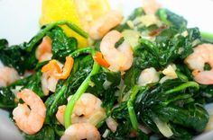 Here's an excellent way to combine shrimp and spinach for a lovely Caribbean inspired dish, which will be packed with flavor. With it's garlic base, hint of. Shrimp Recipes, Fish Recipes, Indian Food Recipes, Healthy Recipes, Ethnic Recipes, Healthy Dishes, Healthy Food, Carribean Food, Caribbean Recipes