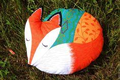 """Купить Подушка """"Лисичка"""" - комбинированный, лиса, подушка-игрушка, детская комната, подушка, декоративная подушка"""