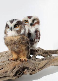 En fotos: te impresionarás al ver estas esculturas de animales hechas de fieltro con aguja