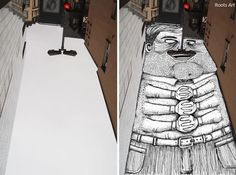 Artist Thomas Lamadieu uses sky spaces in between buildings and rooftops as a form of canvas for his artwork. He first photographs the ideal location and then fills the voids with his whimsical drawings. Ciel Art, Art Thomas, Little Planet, Creative Landscape, Sky Art, First Photograph, Street Art Graffiti, French Artists, Public Art