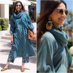 Sonam Kapoor in Anavila Misra — A Fashionista& Diary Indian Attire, Indian Ethnic Wear, Indian Outfits, Indian Formal Wear, Diva Fashion, Fashion Outfits, Office Fashion, Style Fashion, Fashion Beauty