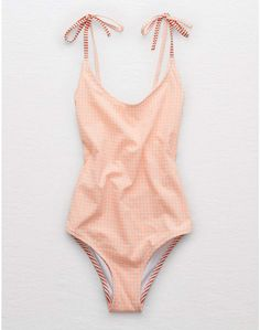 Aerie Seersucker Scoop One Piece Swimsuit, Neon Peach - - aerie Scoop One Piece Swimsuit Source by ShopStyle 4th Of July Swimsuits, Swimsuits For Teens, Modest Swimsuits, Women Swimsuits, One Piece Swimsuit For Teens, One Piece Swimsuit Flattering, One Piece Swimsuit Slimming, Cheeky Swimsuits, Cute One Piece Swimsuits