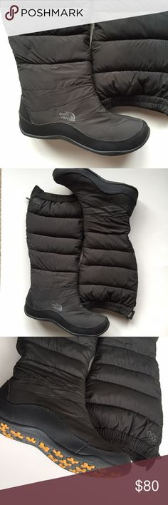 The North Face Snow Boots Greatest snow boots ever! I no longer live where I need these. They were perfect in Chicago! Love the cozy fleece lining! Great traction on snow and ice. You won't fall down! Excellent used condition. The North Face Shoes Winter & Rain Boots