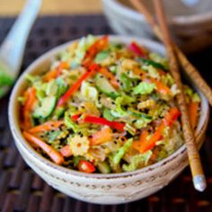 Inside out Spring Roll Salad Recipe - Key Ingredient