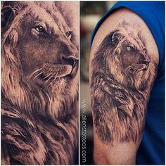 #lion #tattoo by @sunnybhanushali at #alienstattoo #mumbai… | Flickr
