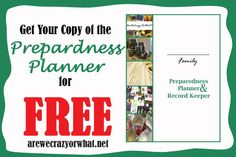 Preparedness Planner Feature - FREE! Awesome planner!