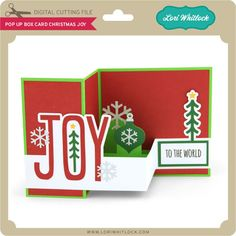 Pop up box card boxcard with JOY on the front