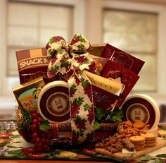 Send someone special this sophisticated gourmet gift basket to show your sincere appreciation or warm thoughts of them. A great sympathy gift or corporate thank you this gift is filled with gourmet affair to share.
