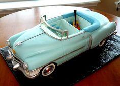 Cake art. Hank William's Cadillac and guitar - Hank William's 1952 Cadillac with Guitar