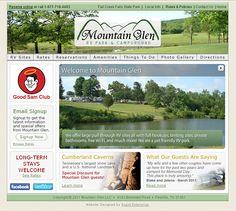 Mountain Glen RV Park & Campground - web design, logo design, flash, xhtml/css