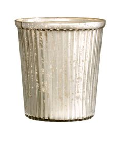 Check this out! Pot in antique-finish glass with a fluted texture. Appearance of each pot can vary. Height 4 in., diameter at top 4 1/4 in. - Visit hm.com to see more.