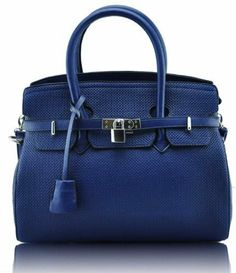 Womens Navy Blue Padlock Tote Office Handbag Long Strap KCMODE KCMODE, To BUY or SEE just CLICK on AMAZON right here http://www.amazon.com/dp/B00EZ3ZP9E/ref=cm_sw_r_pi_dp_mb1stb1AE0HG9735