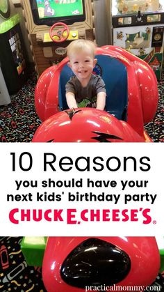10 Reasons Why You Should Have Your Next Kids' Birthday Party at Chuck E. Cheese's #ad @chuckecheese