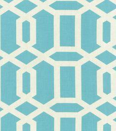 Home Decor Print Fabric- Swavelle Millcreek Bondi Paramount Seawind
