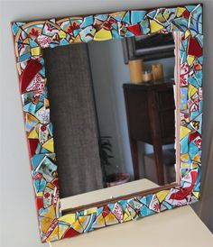 How To Make A Mosaic Mirror, something I've been wanting to try for quite some time!
