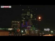 Giant Game of 'Tetris' Played Using Two Sides of a 29-Story Building in Philadelphia