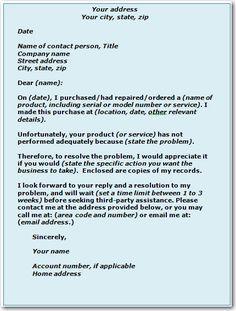 complaint business letter format template letters pdf free amp premium templates best free home design idea inspiration
