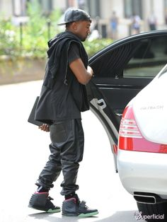 Kanye West was recently spotted getting into the backseat of a #Maybach in NYC