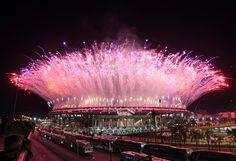 Le stade Maracana à Rio lors de la cérémonie d'ouverture des Jeux Olympiques le…