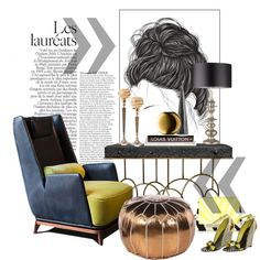 Gianluigi Landoni... by gloriettequartet on Polyvore featuring interior, interiors, interior design, home, home decor, interior decorating, DwellStudio, LSA International, Arteriors and Sergio Rossi