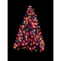 Christmas Outdoor 4FT Lighted Hand Crafted Folding Compact Tree Yard Lawn  Decor #Unbranded
